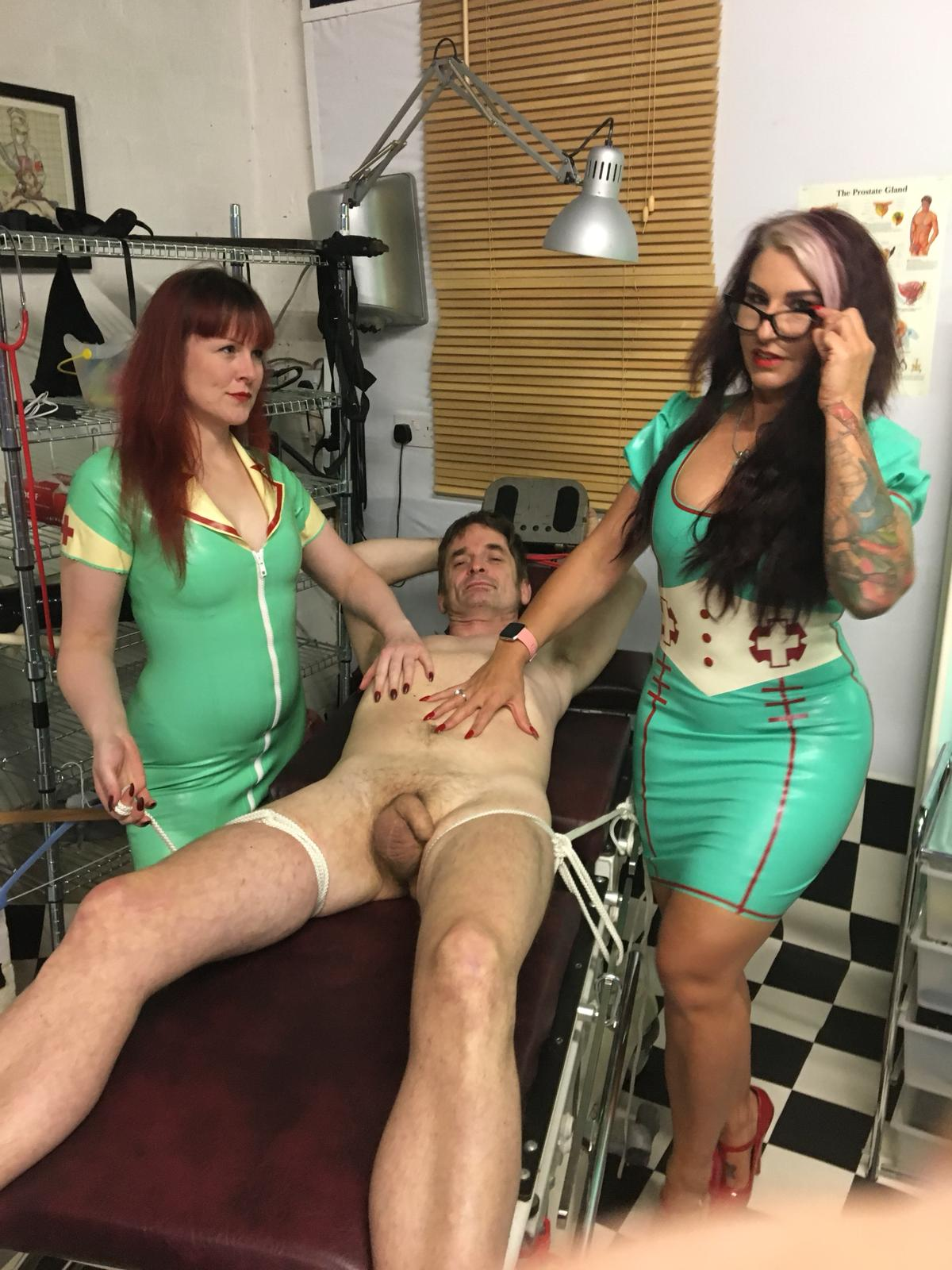 Miss Kitty Bliss and Myself with a Filming slave.